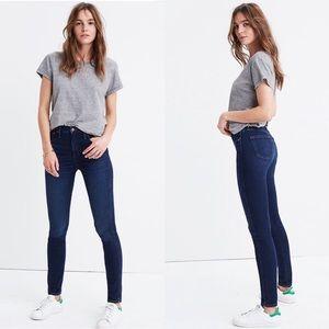 """NWOT Madewell 10"""" High Rise Skinny Jeans Dark Blue"""